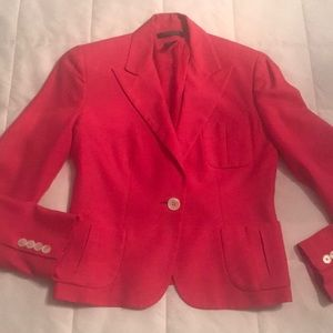 Ralph Lauren Lauren Petite fitted jacket. Hot pink